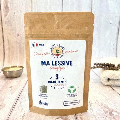 Préparation pour lessive écologique liquide au savon de Marseille 12 lavages