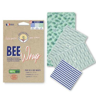 Bee Wrap pack des curieux 4 emballages Végétal