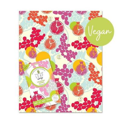 Emballage alimentaire réutilisable à la cire végétale Pomegranate Taille XL