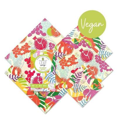 5 emballages alimentaires Tropical Collection en cire végétale pack family
