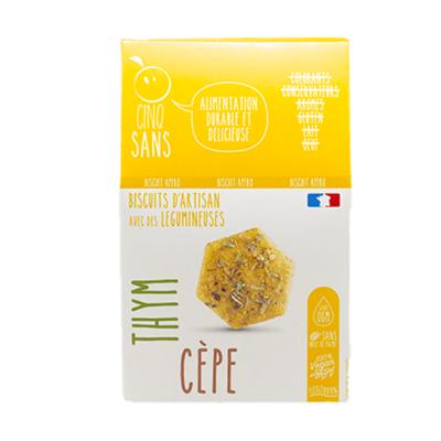 Biscuits apéro bio au goût cèpe et thym 100g