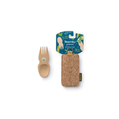 Cuillère-fourchette Sporks & Cork en bambou