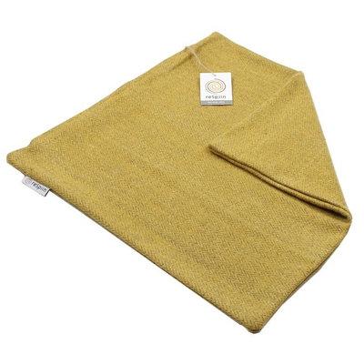 Housse de coussin Safran en laine recyclée Zig Zag