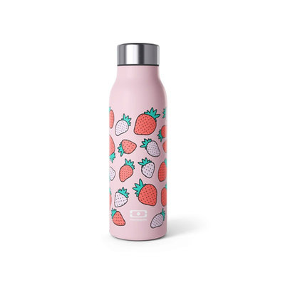 Bouteille intelligente isotherme MB Genius graphic strawberry 500 ml