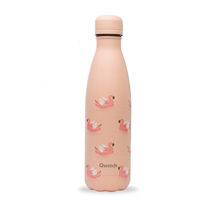 Bouteille Summer vibes Flamingo 500 ml inox, isotherme