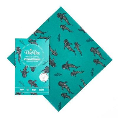 Wrap réutilisable baleine bleue Taille L
