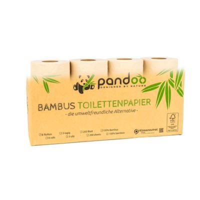 8 rouleaux de papier toilette en bambou - 200 feuilles