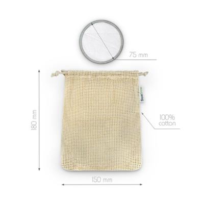 Filet de lavage pour lingettes réutilisables 100% coton