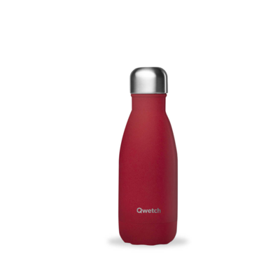 Bouteille rouge granite 260 ml inox, isotherme et sans BPA