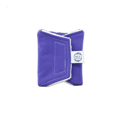 Serviette périodique jour «spécial sportives» en coton biologique coloris bleu