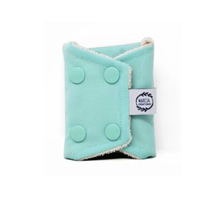 Serviette périodique jour en coton biologique coloris bleu