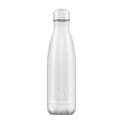 Bouteille Glitter Édition blanc 500 ml inox, isotherme