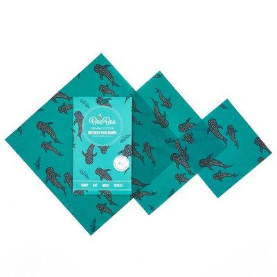 3 emballages alimentaires réutilisables baleine bleue