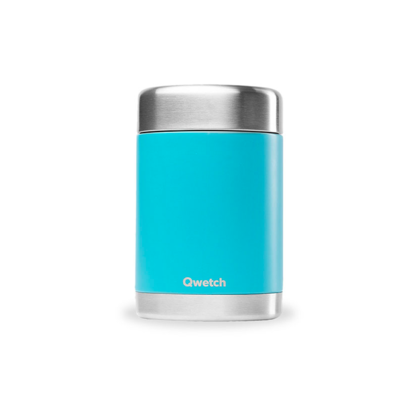 Boîte repas & soupe Turquoise, inox et isotherme 340 ml