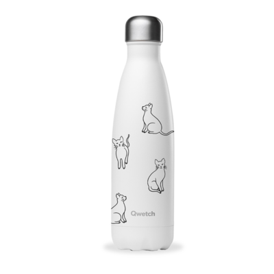 Bouteille « Pretty cats » 500 ml, inox, isotherme