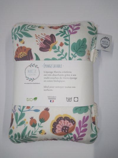 Éponge lavable en coton biologique  nina