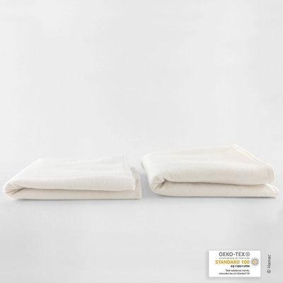 2 absorbants en coton biologique taille 1 beige lavable