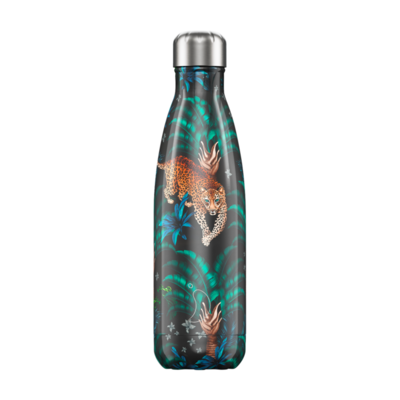 Bouteille Tropical Leopard 500 ml inox, isotherme
