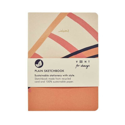 Carnet pages blanchesA5 - Rose
