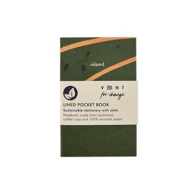 Carnet ligné format poche - Vert