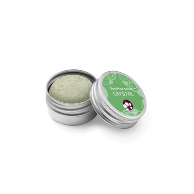 Dentifrice solide Vegan menthe CRYSTAL boite métal rechargeable 20 g