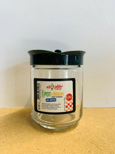 Pot à épices avec étiquette ardoise