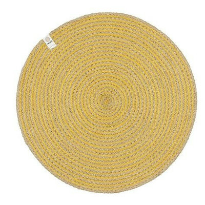 Set de table en jute motif spirale jaune