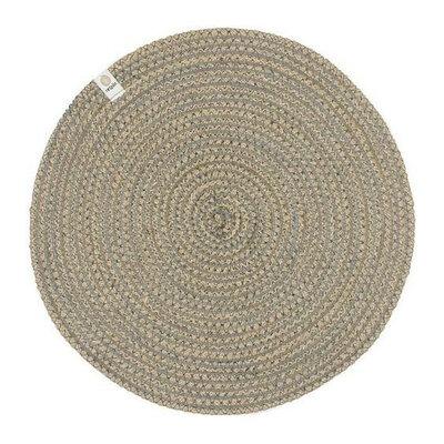 Set de table en jute motif spirale gris