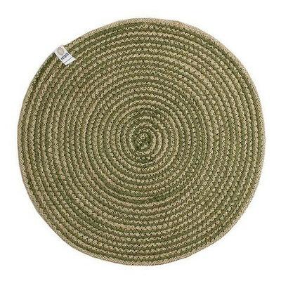 Set de table en jute motif spirale vert