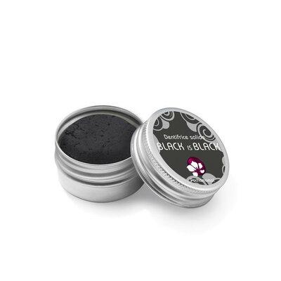 Dentifrice solide charbon Black is black20g en boite métal rechargeable