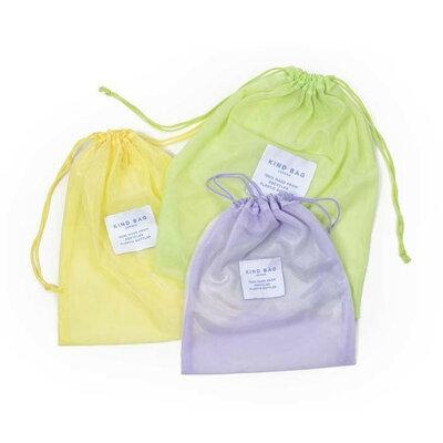 Trio de sacs filet colorés