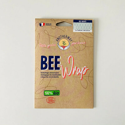 Bee Wrap 2 emballages réutilisables Feuille taille M