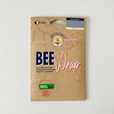 Bee Wrap 3 emballages réutilisables Marinière taille S