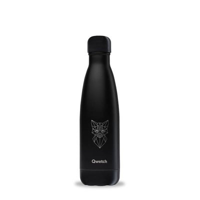 Bouteille Animal Tattoo Renard 500 ml, inox, isotherme