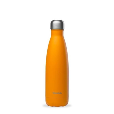Bouteille orange pop 500 ml inox, isotherme et sans BPA
