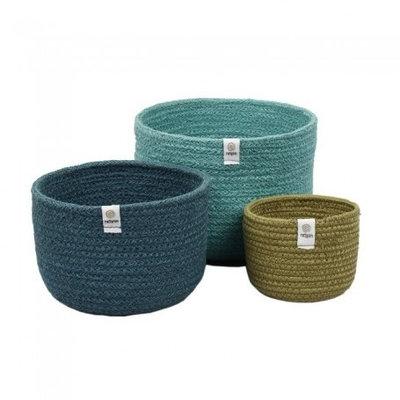 Trio de paniers gigognes Océan en fibres recyclées
