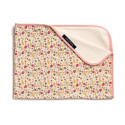 Couverture fleurie Bloom en coton bio