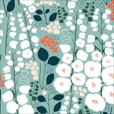 Emballage cadeau Furoshiki Stockbridge vert 45 x 45 cm en coton bio