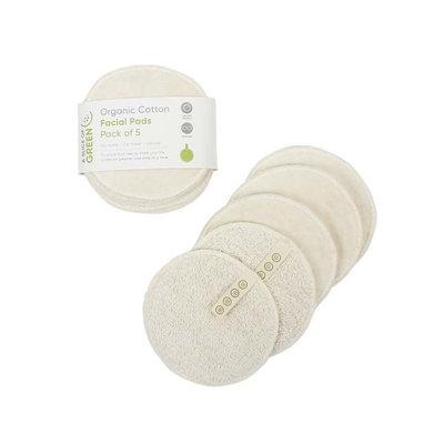 5 disques démaquillants réutilisables en coton bio