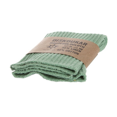 Torchon vert en lin et coton bio