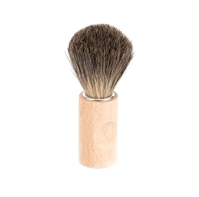 Blaireau de rasage en poils naturels manche en bois