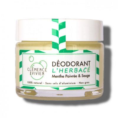 Déodorant crème Menthe poivrée et saugeL'Herbacé 50 g
