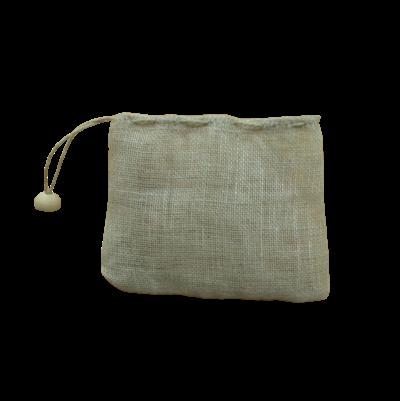 Filtre à thé réutilisable en lin biologique 8 × 8 cm