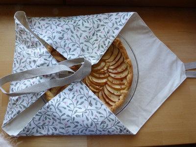 Sac à tarte en coton biologique 50 x 50cm