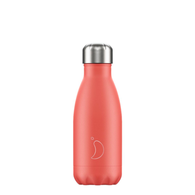 Bouteille pastel rouge corail 260 ml inox, isotherme