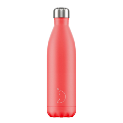 Bouteille pastel rouge corail 500 ml inox, isotherme
