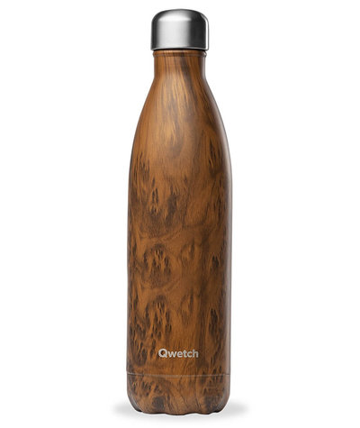 Bouteille Wood bois 750 ml inox, isotherme