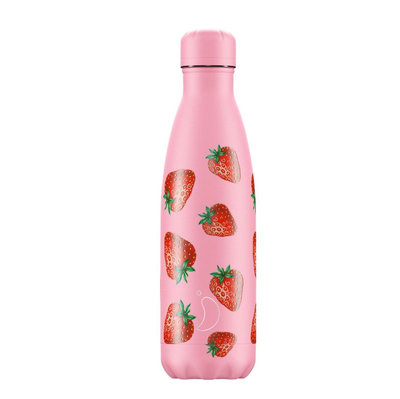Bouteille Icons fraise 500 ml inox, isotherme