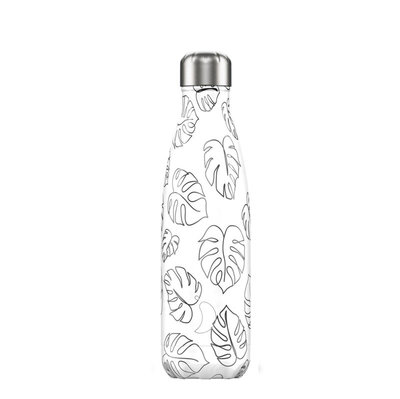 Bouteille Line Art feuilles 500 ml inox, isotherme