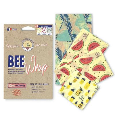 Bee Wrap pack des curieux 4 emballages Original